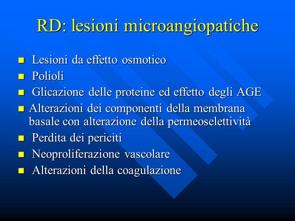RD: lesioni microangiopatiche