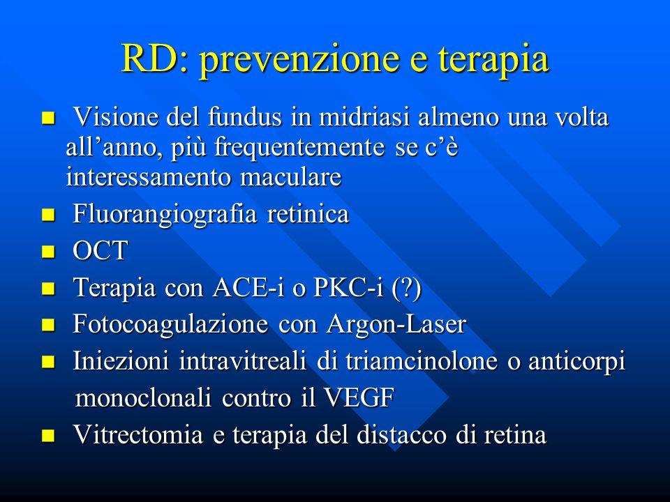 RD: prevenzione e terapia