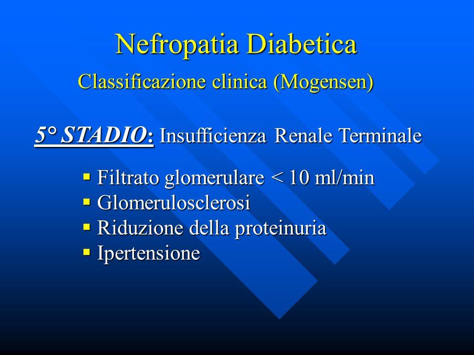 Nefropatia Diabetica 5° STADIO: Insufficienza Renale Terminale