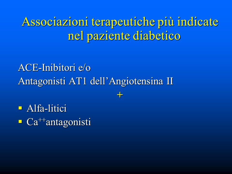 Associazioni terapeutiche più indicate nel paziente diabetico
