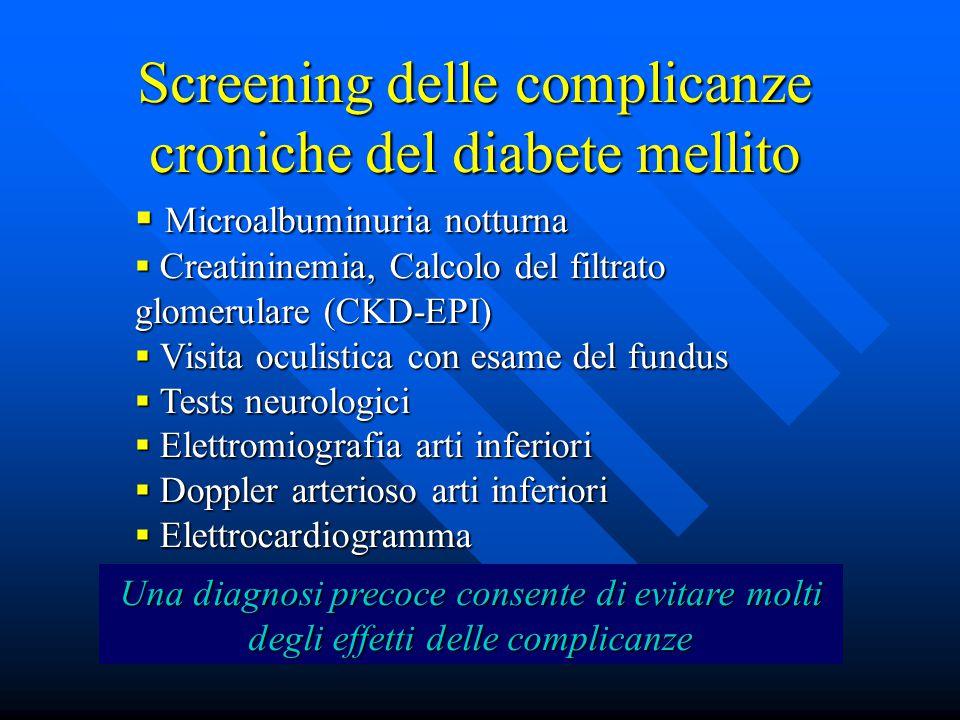 Screening delle complicanze croniche del diabete mellito