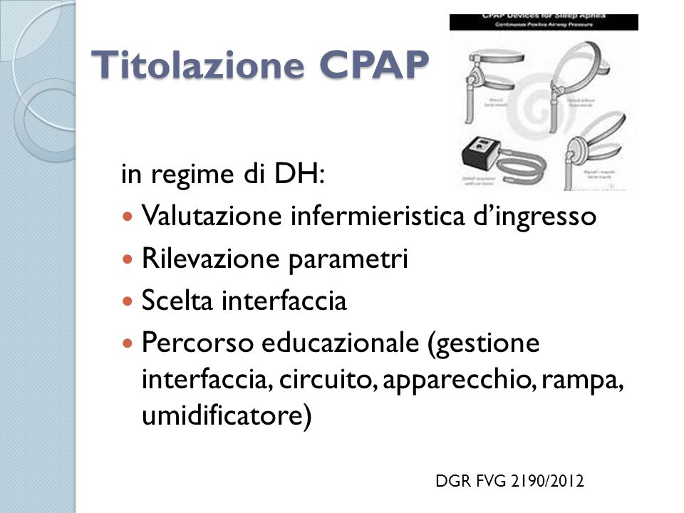 Titolazione CPAP in regime di DH: