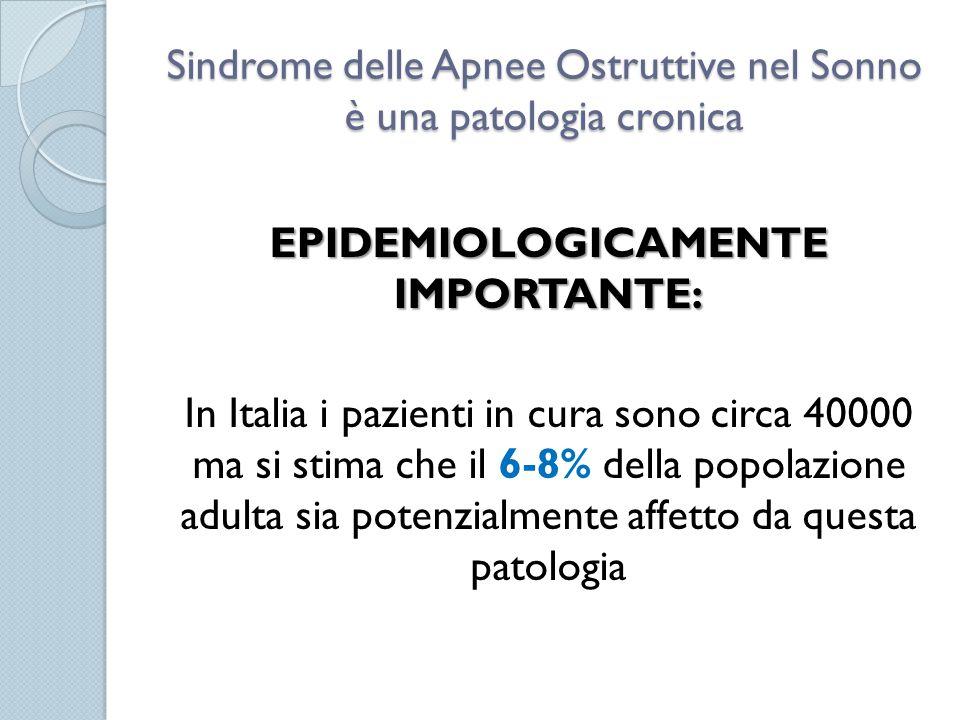Sindrome delle Apnee Ostruttive nel Sonno è una patologia cronica