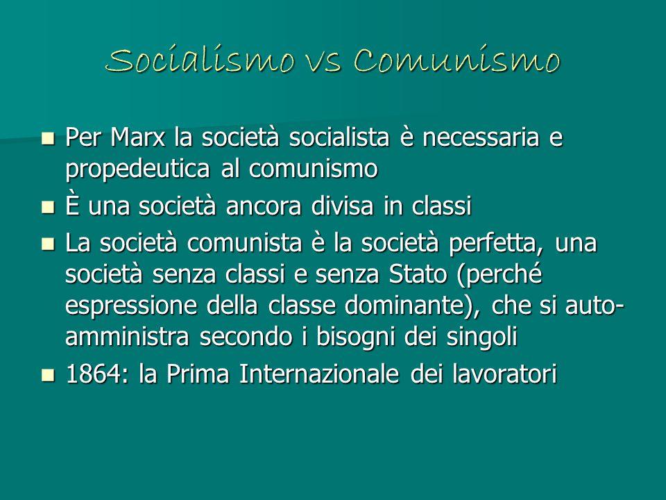 Socialismo vs Comunismo