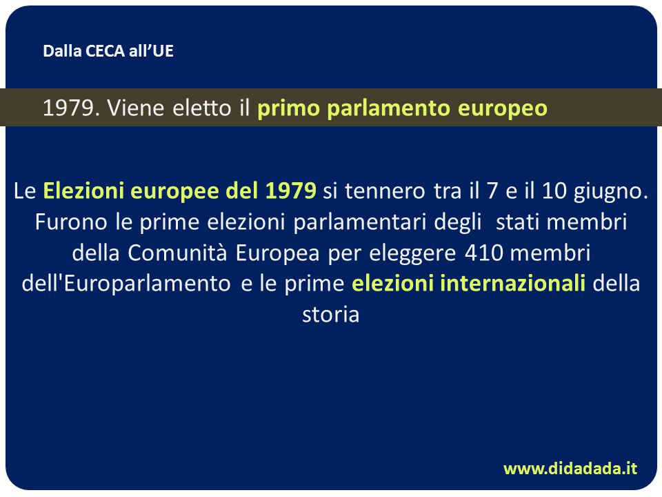 L integrazione europea ppt video online scaricare for Membri del parlamento