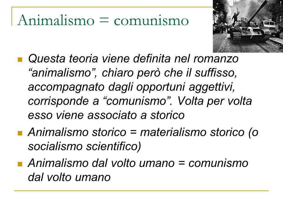 Animalismo = comunismo