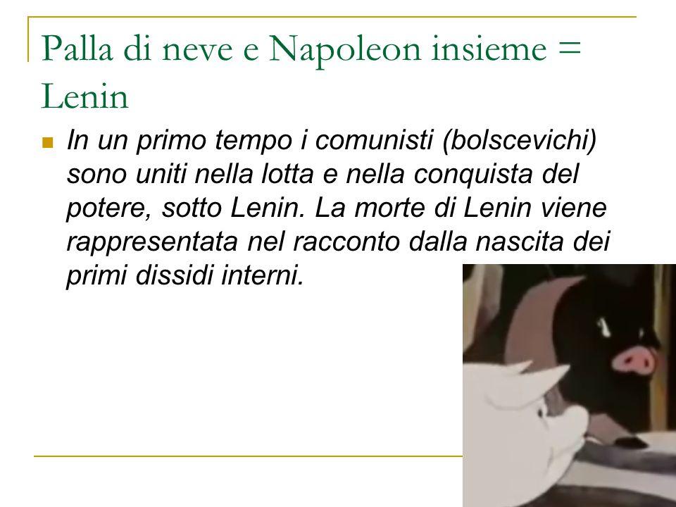 Palla di neve e Napoleon insieme = Lenin