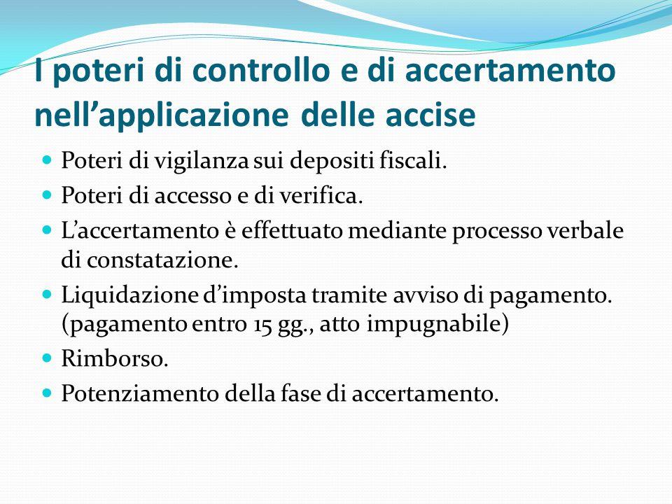 I poteri di controllo e di accertamento nell'applicazione delle accise