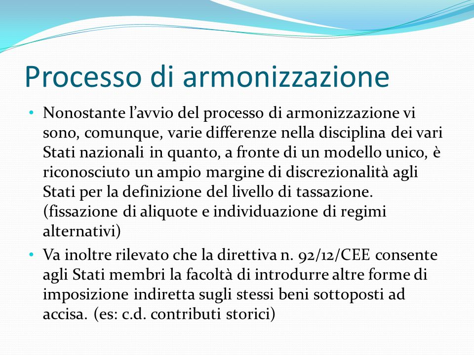 Processo di armonizzazione