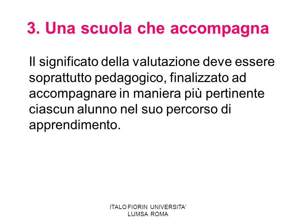 3. Una scuola che accompagna