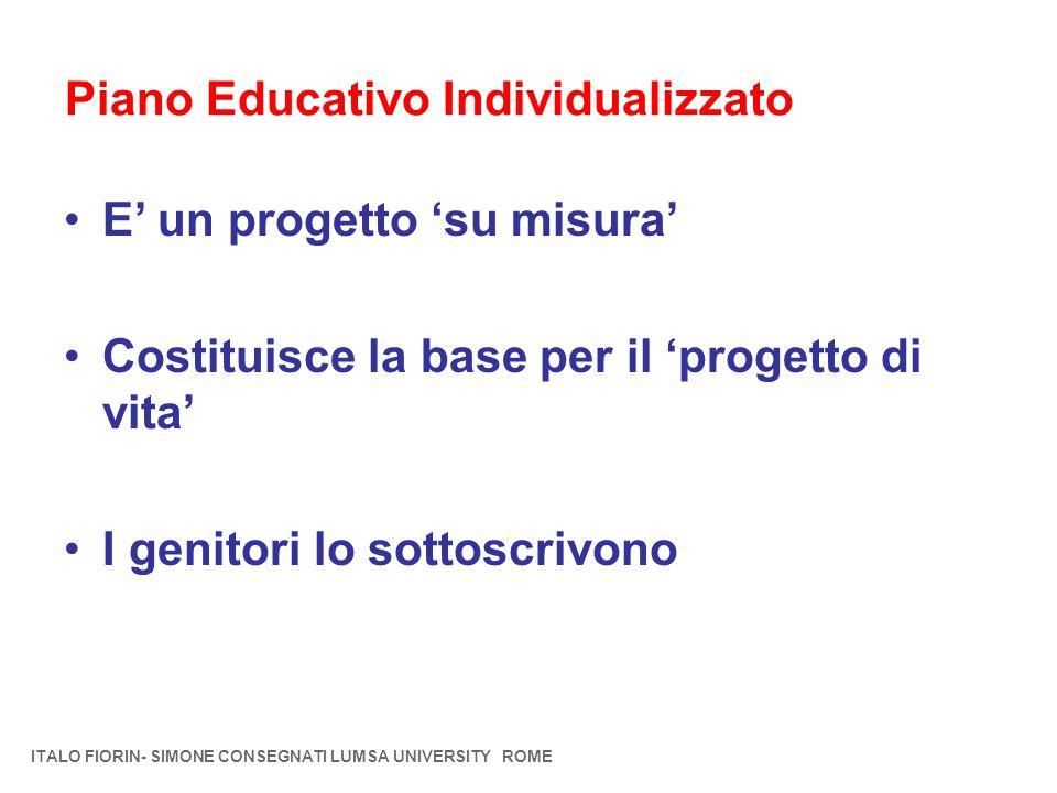 Piano Educativo Individualizzato