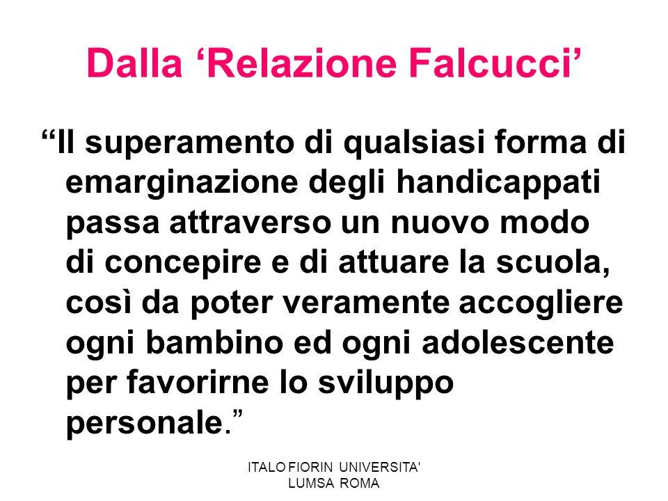 Dalla 'Relazione Falcucci'