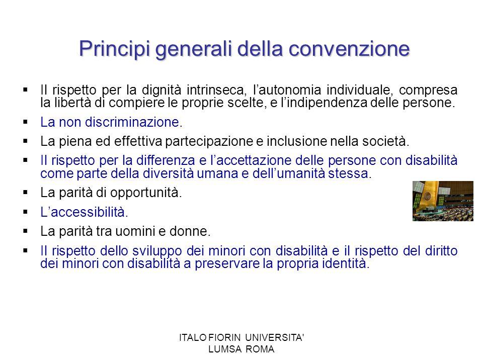 Principi generali della convenzione
