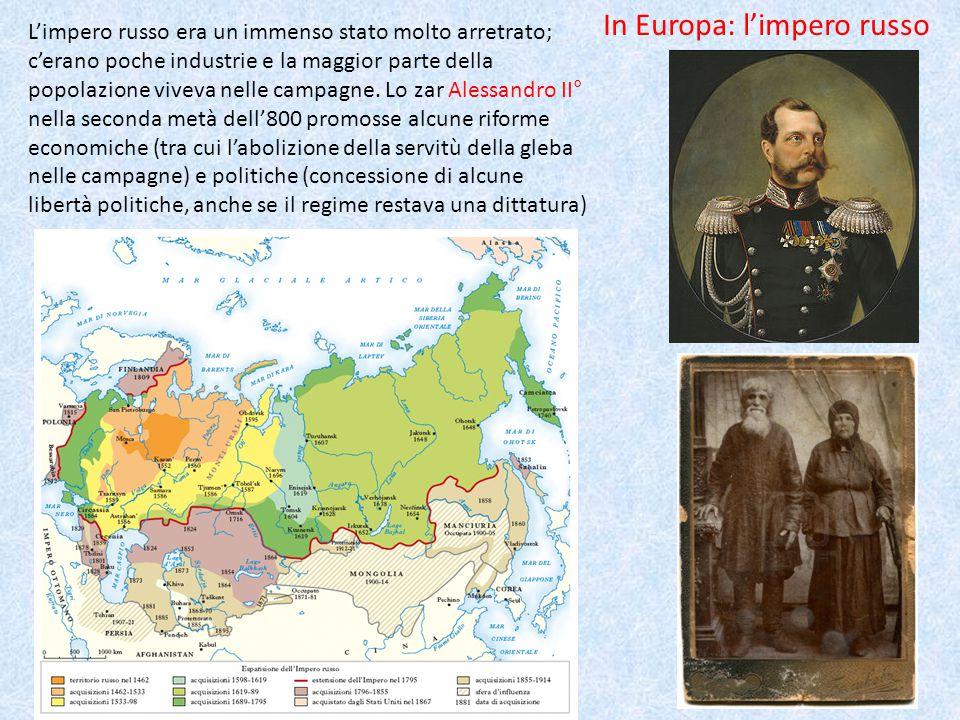 In Europa: l'impero russo