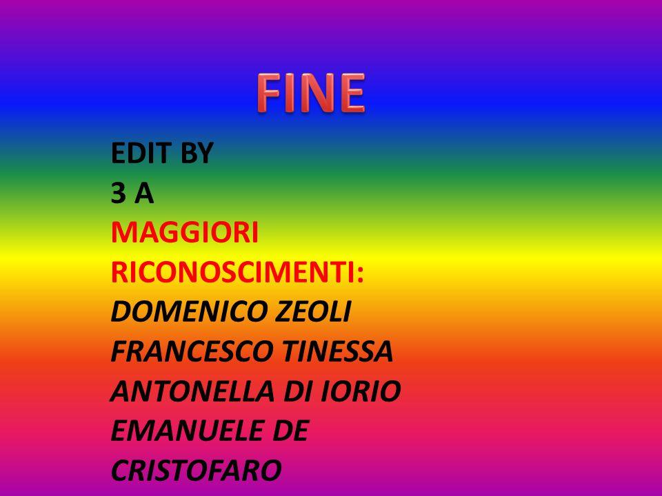 FINE EDIT BY 3 A MAGGIORI RICONOSCIMENTI: DOMENICO ZEOLI