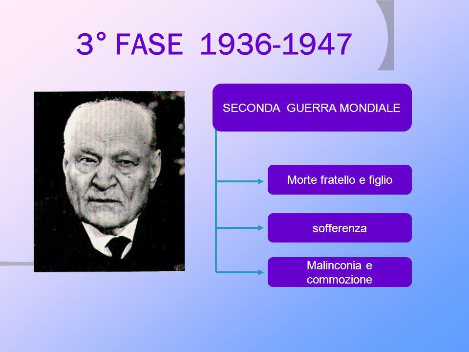 3° FASE 1936-1947 SECONDA GUERRA MONDIALE Morte fratello e figlio
