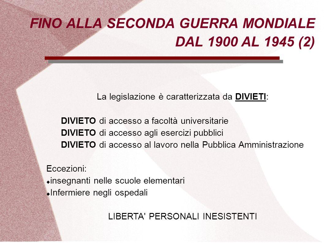 FINO ALLA SECONDA GUERRA MONDIALE DAL 1900 AL 1945 (2)