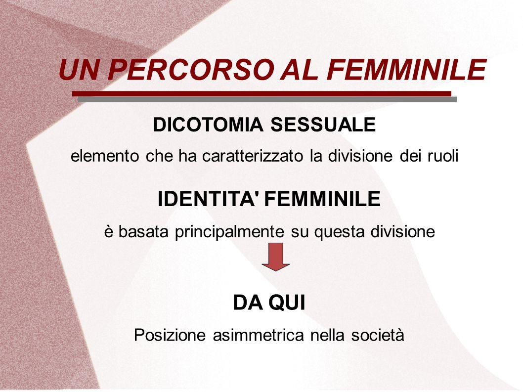 UN PERCORSO AL FEMMINILE