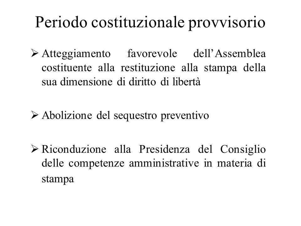 Periodo costituzionale provvisorio