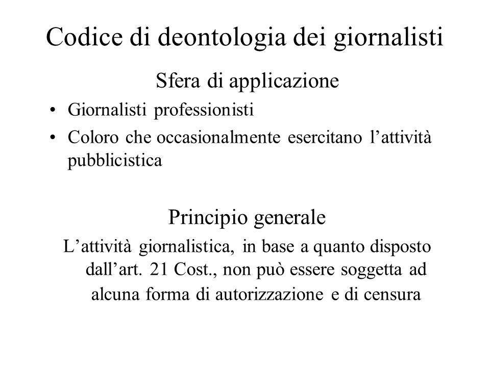 Codice di deontologia dei giornalisti