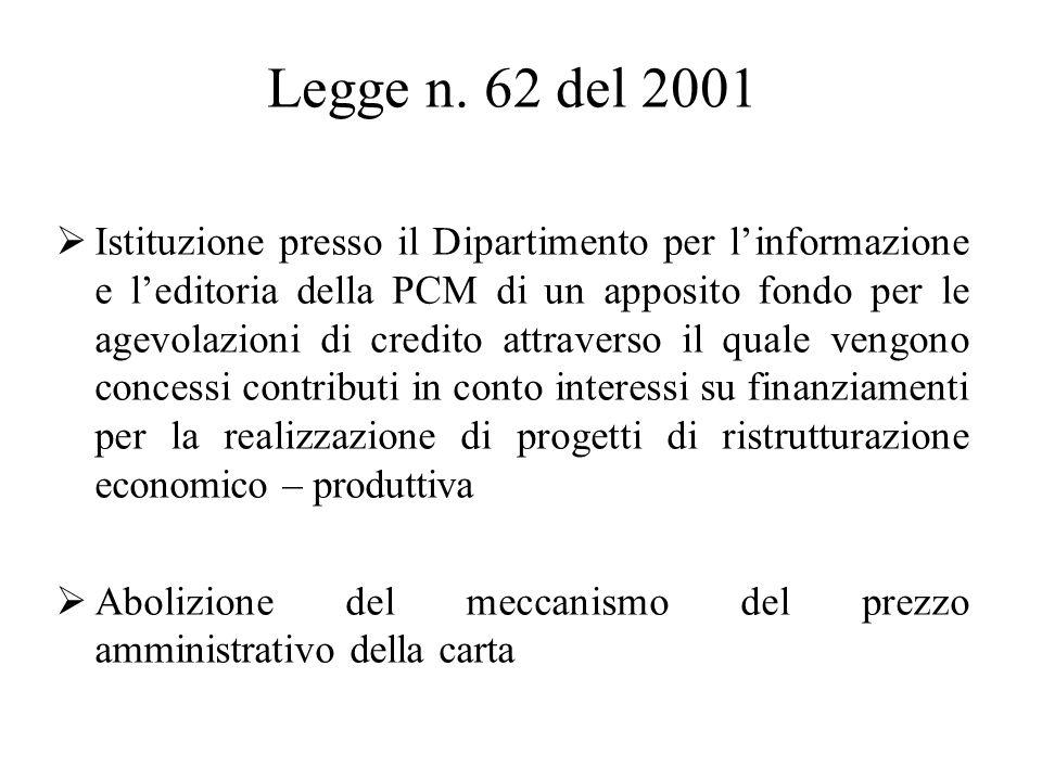Legge n. 62 del 2001