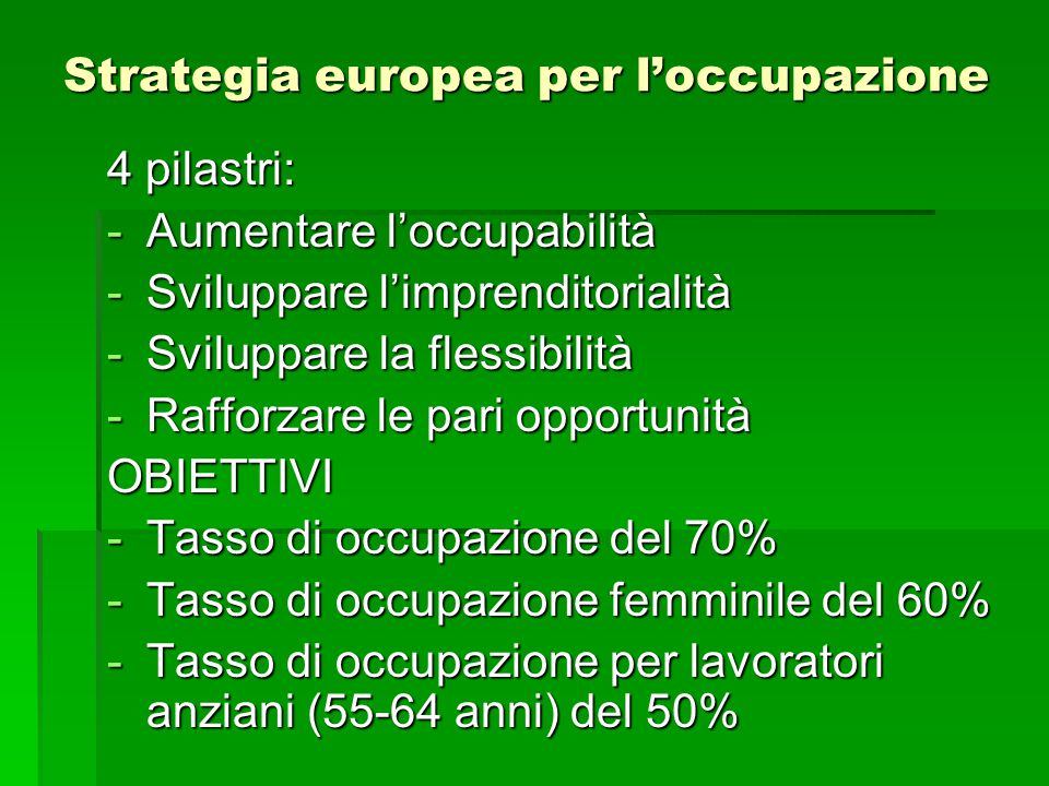 Strategia europea per l'occupazione