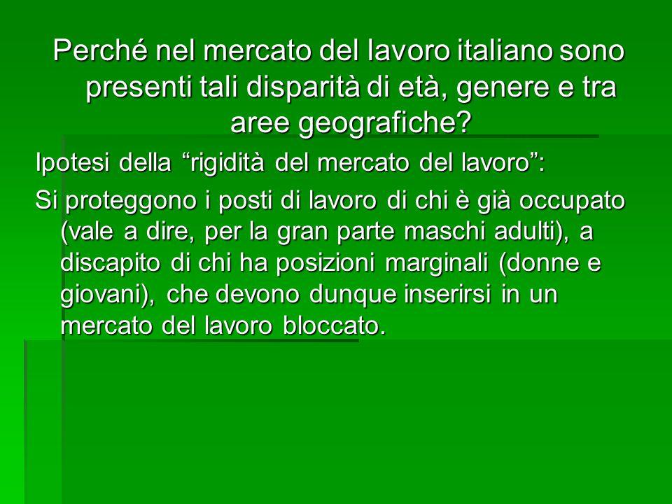 Perché nel mercato del lavoro italiano sono presenti tali disparità di età, genere e tra aree geografiche
