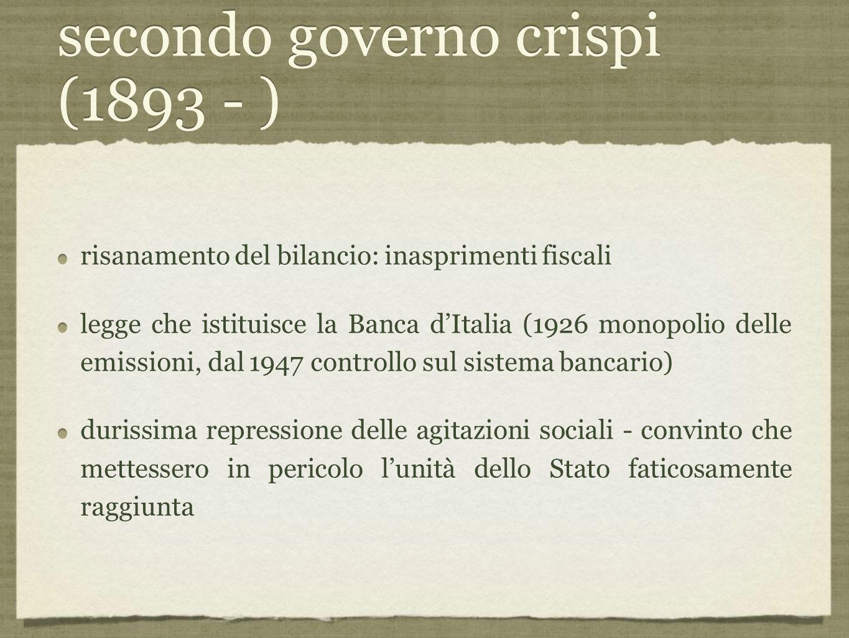 secondo governo crispi (1893 - )