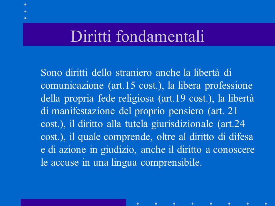Diritti fondamentali