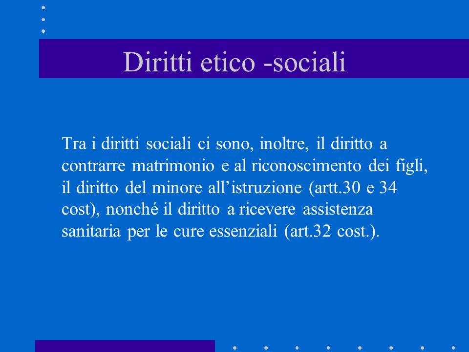 Diritti etico -sociali