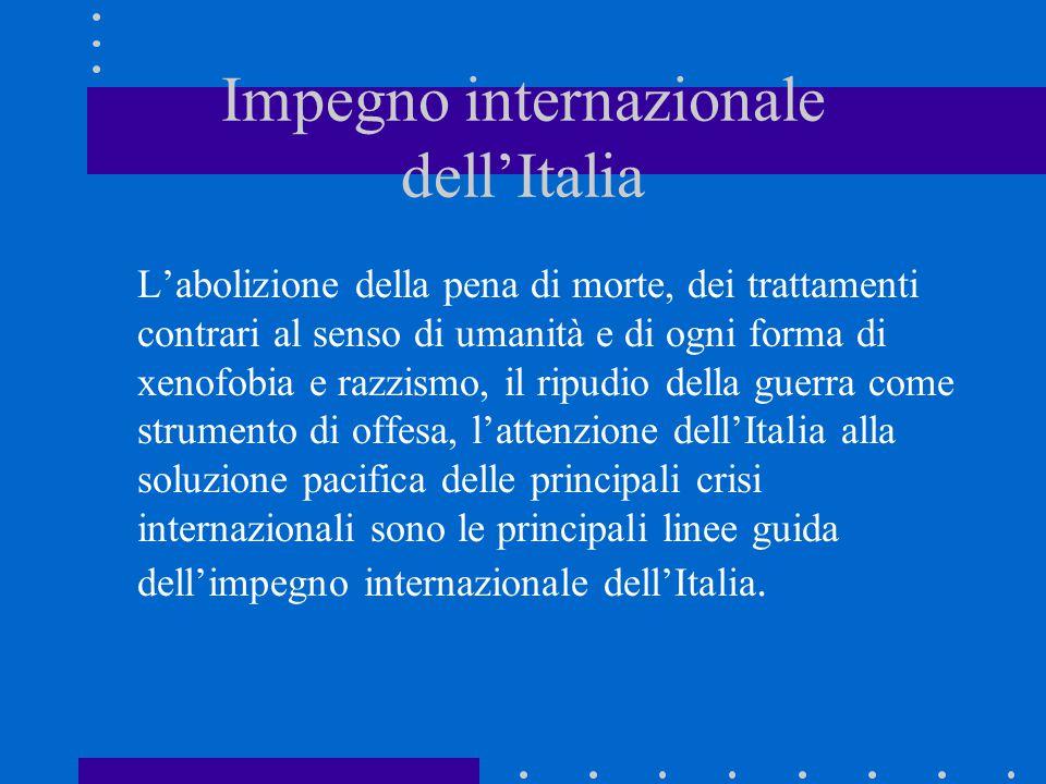 Impegno internazionale dell'Italia