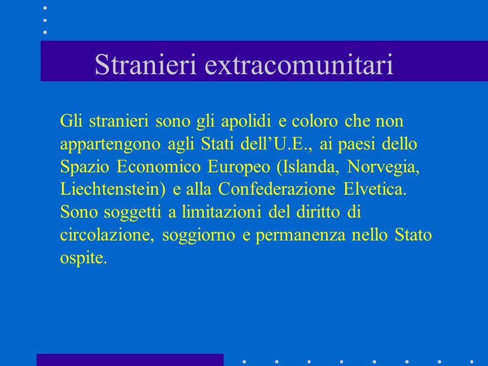 Stranieri extracomunitari