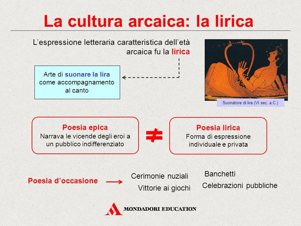 La cultura arcaica: la lirica