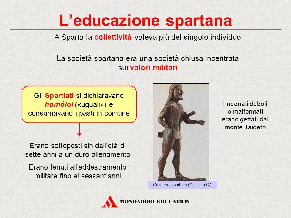 L'educazione spartana