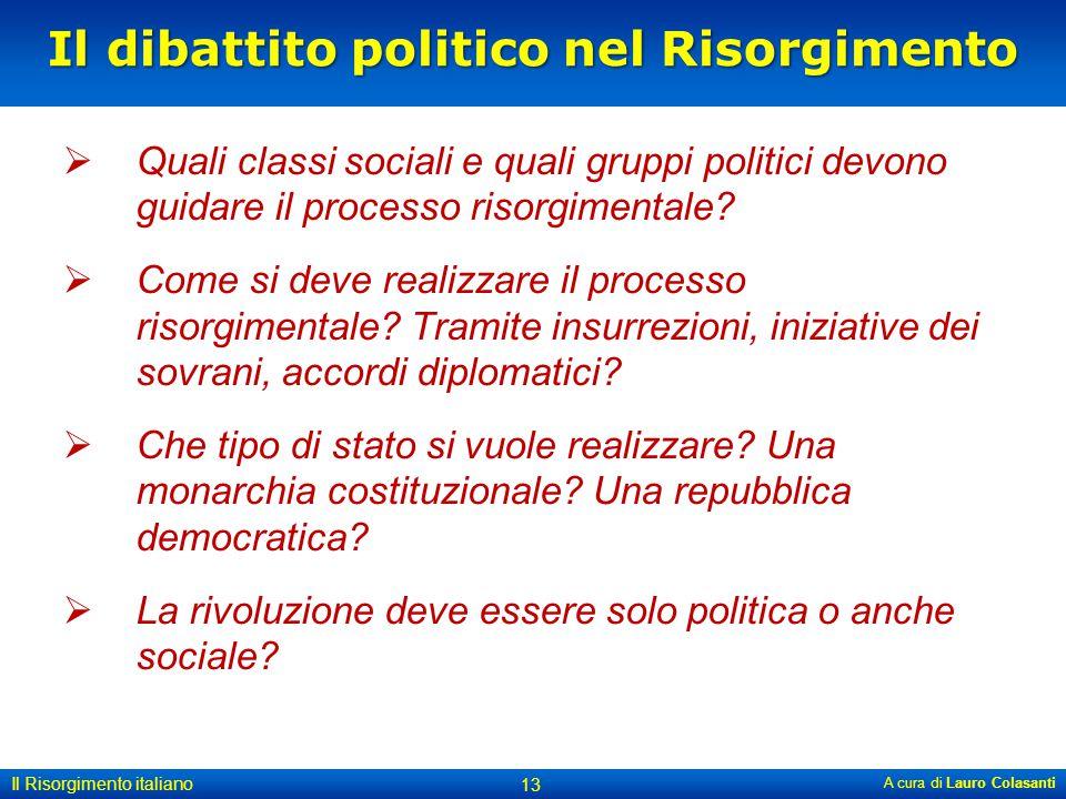 Il dibattito politico nel Risorgimento
