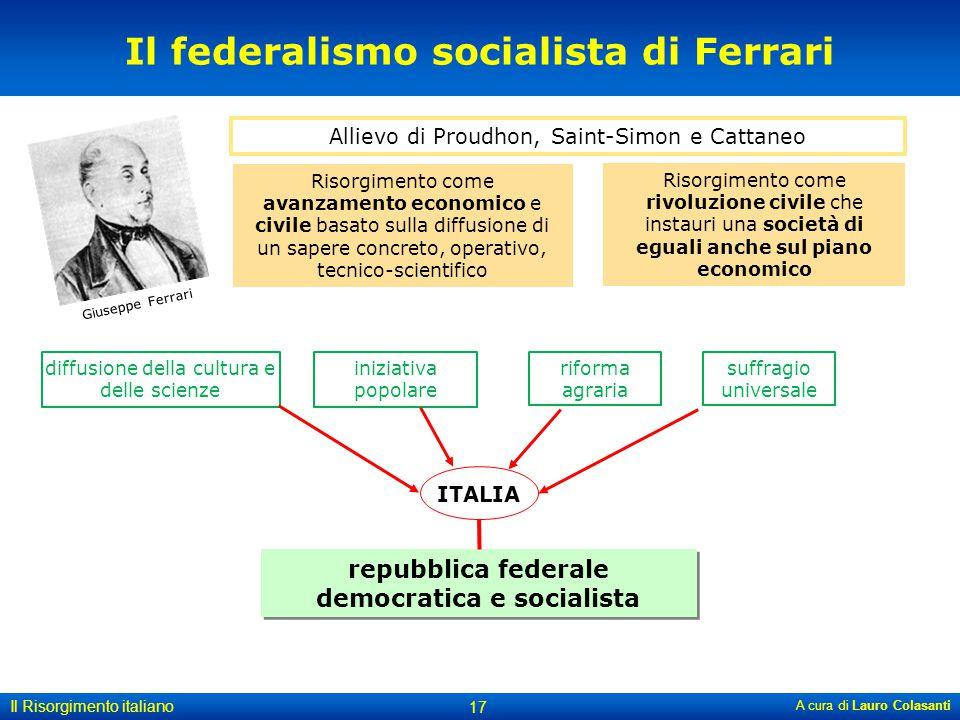 Il federalismo socialista di Ferrari