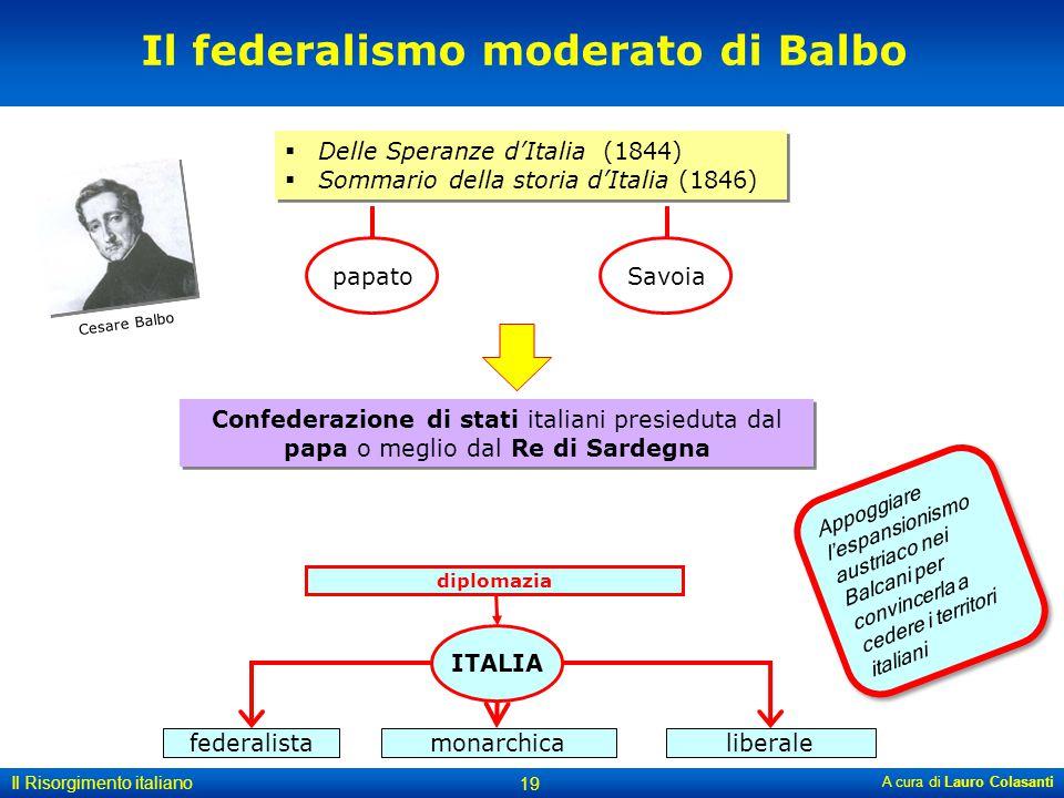 Il federalismo moderato di Balbo