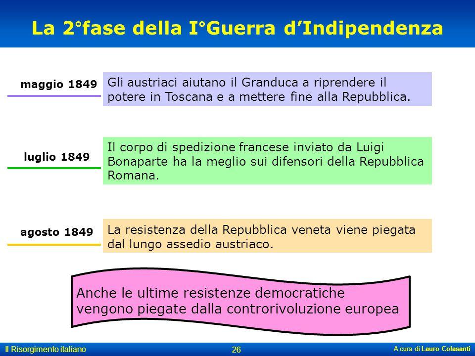 La 2°fase della I°Guerra d'Indipendenza