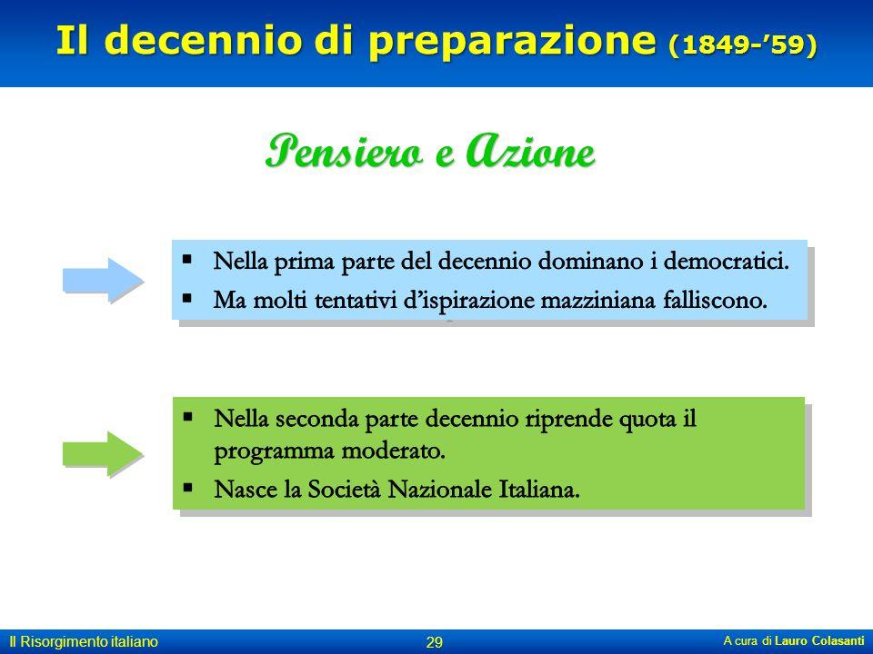 Il decennio di preparazione (1849-'59)
