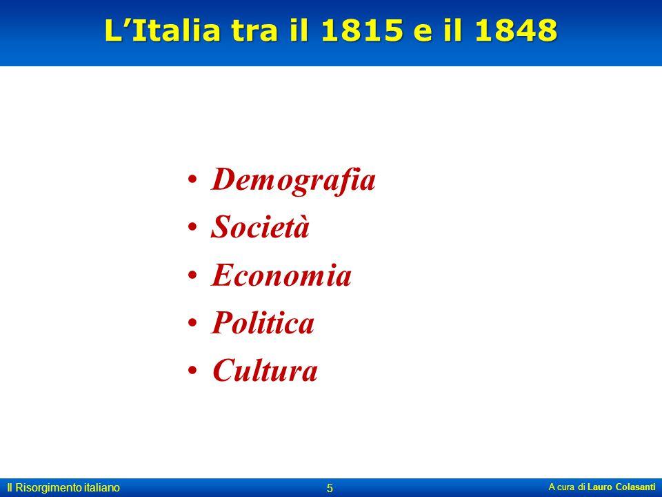 Demografia Società Economia Politica Cultura