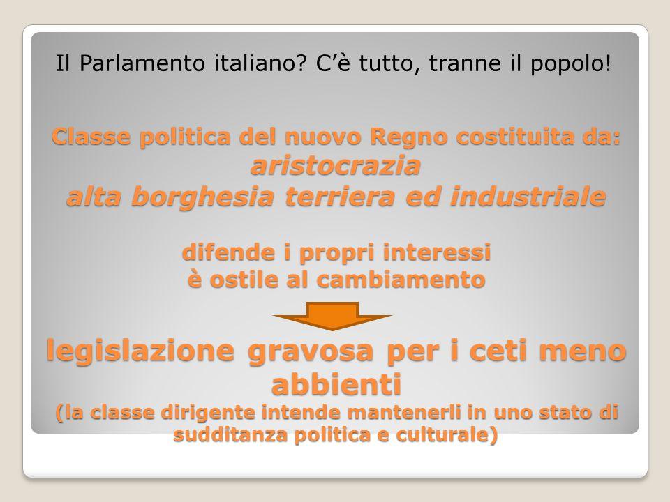 Il Parlamento italiano C'è tutto, tranne il popolo!
