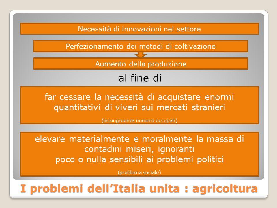 I problemi dell'Italia unita : agricoltura