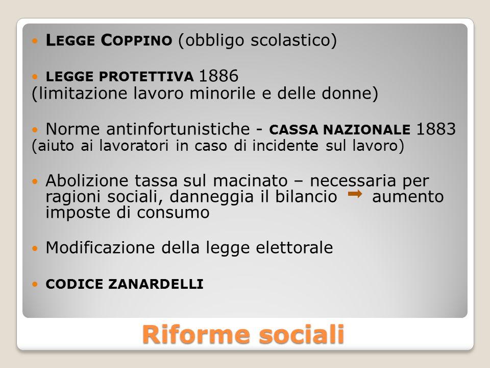 Riforme sociali Legge Coppino (obbligo scolastico)