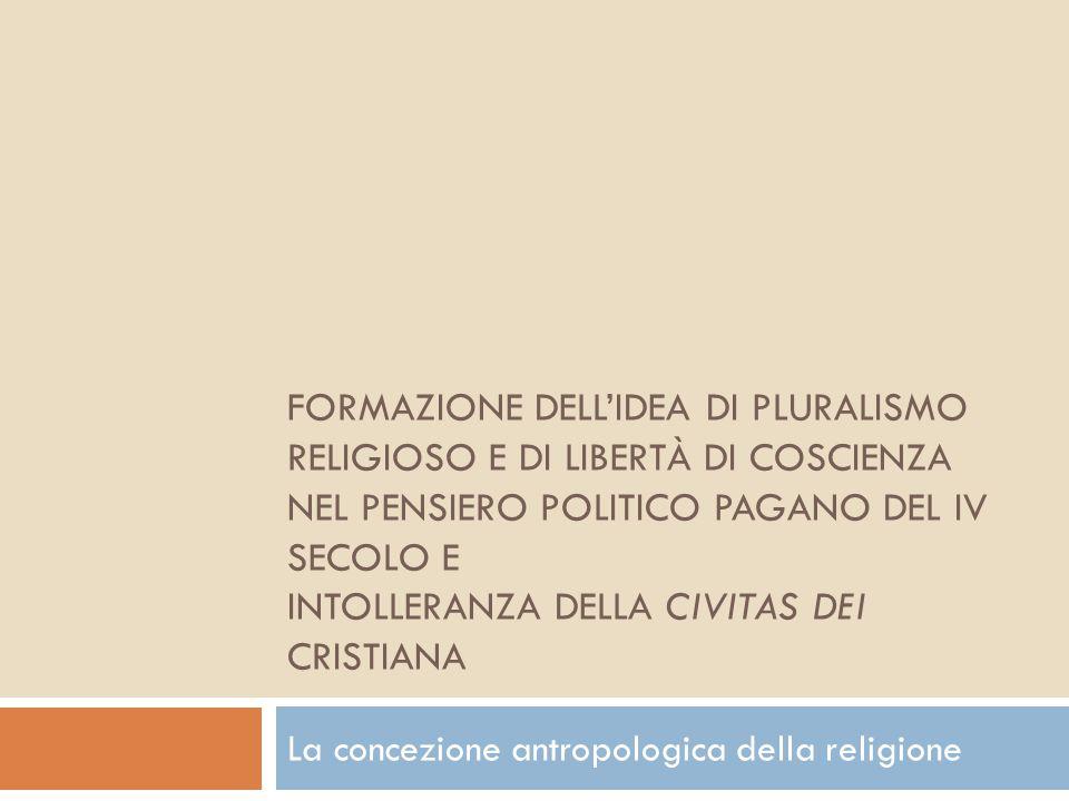 La concezione antropologica della religione
