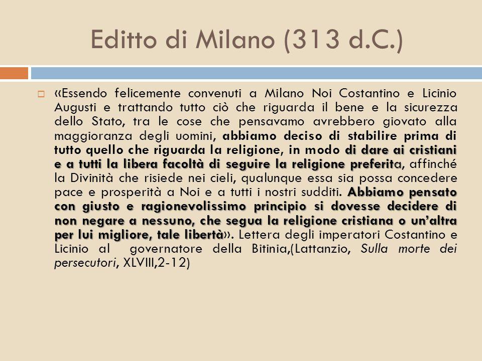 Editto di Milano (313 d.C.)