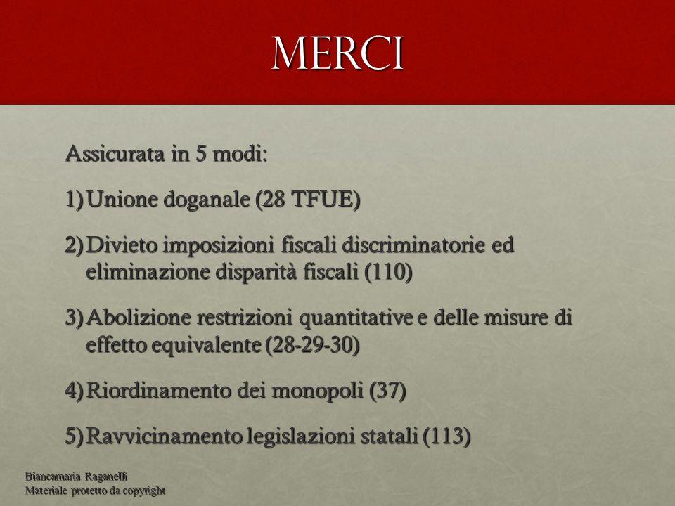 Merci Assicurata in 5 modi: Unione doganale (28 TFUE)