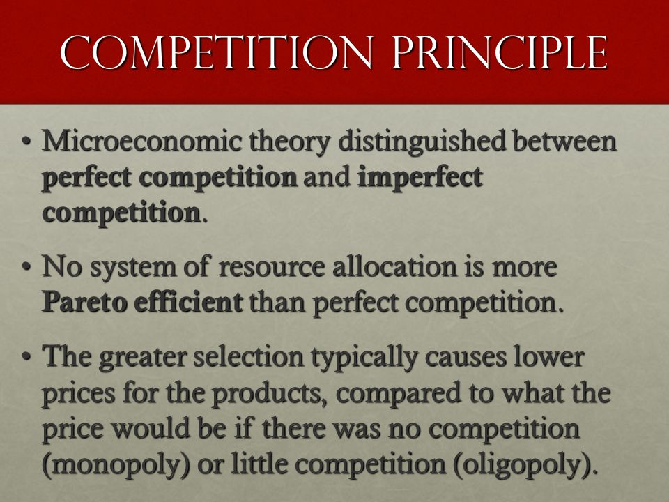 Competition principle