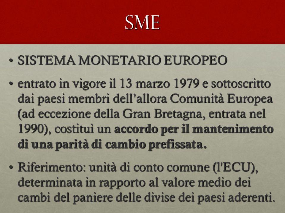 SME SISTEMA MONETARIO EUROPEO