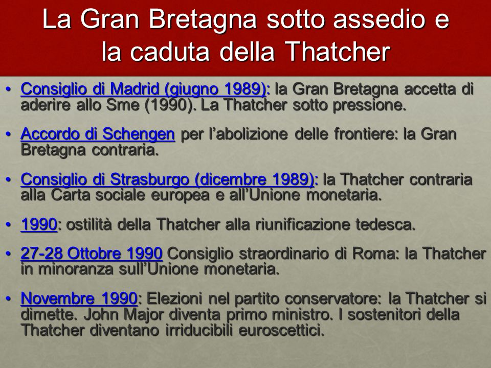 La Gran Bretagna sotto assedio e la caduta della Thatcher