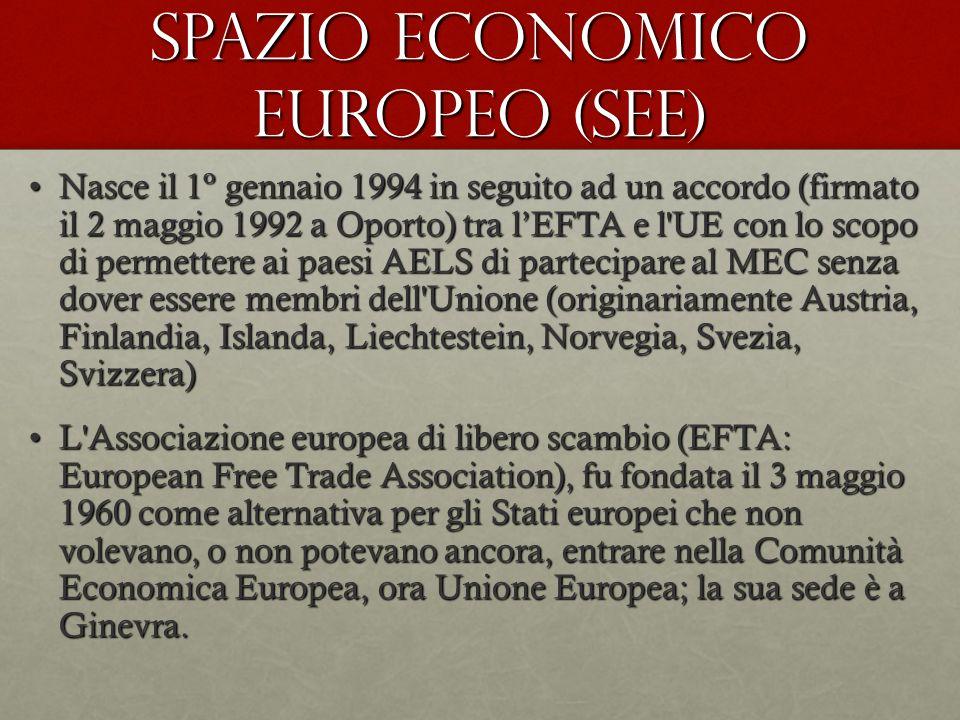 SPAZIO ECONOMICO EUROPEO (SEE)